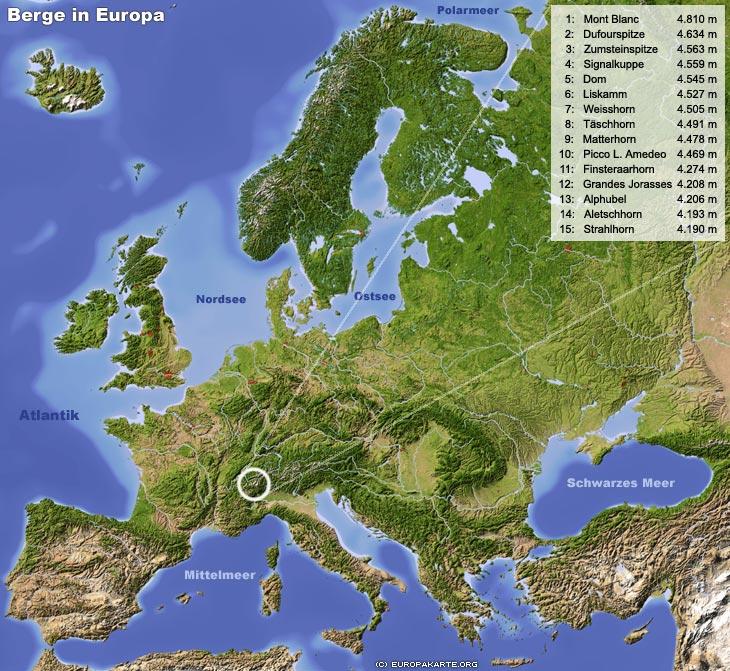 gebirge mit namen europa