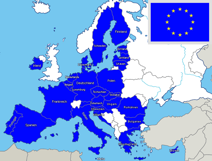 Stumme Karte Asien Lander Hauptstadte.Eu Lander Eu Karte Europaische Union
