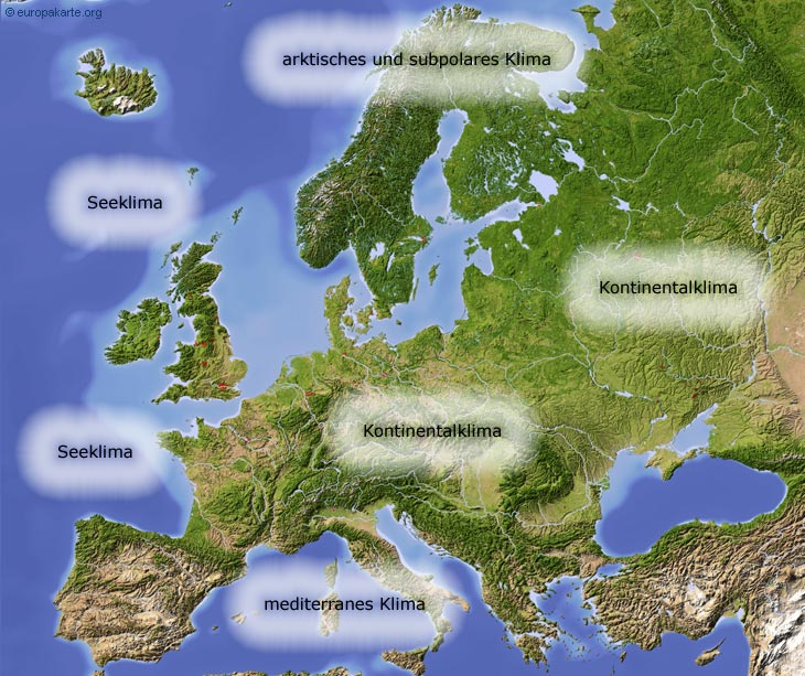 klima in europa klimazonen auf der karte. Black Bedroom Furniture Sets. Home Design Ideas
