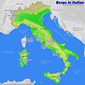 Karte mit den italienischen Bergen