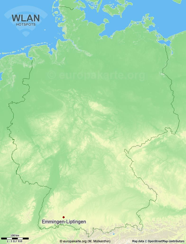 WLAN-Hotspots in Emmingen-Liptingen (Baden-Württemberg)
