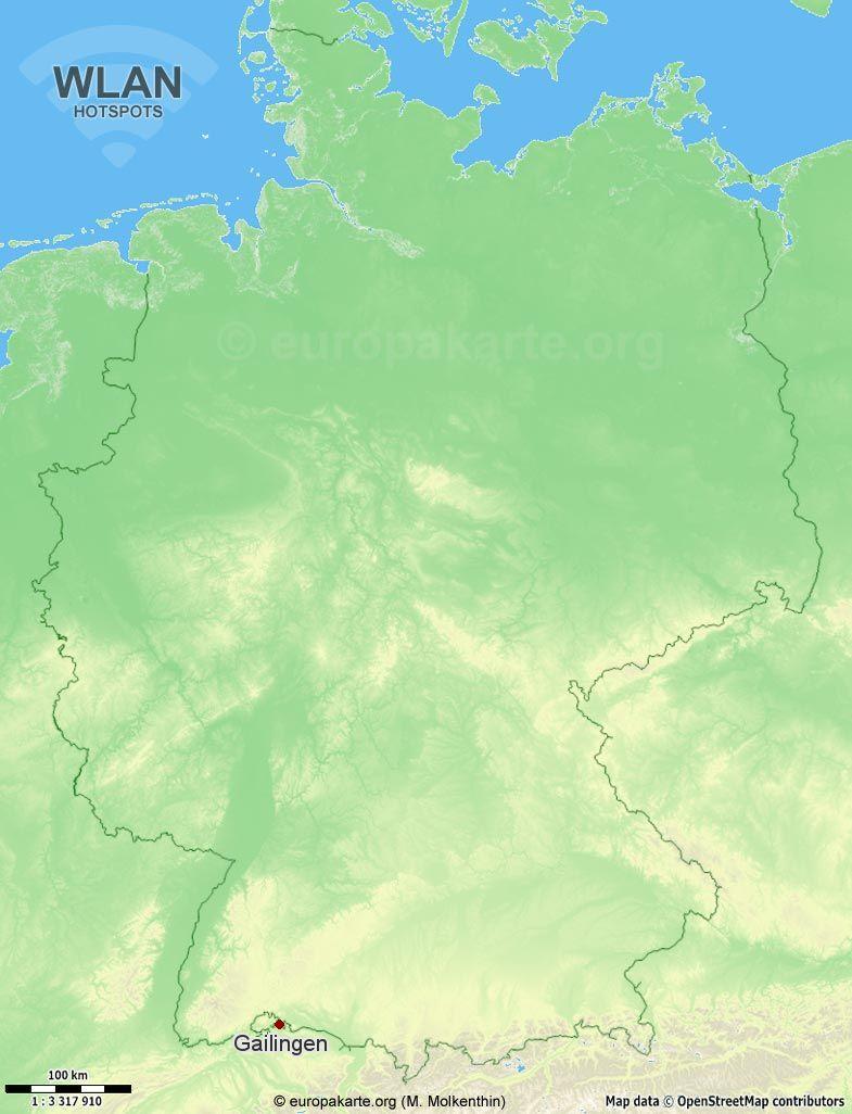 WLAN-Hotspots in Gailingen (Baden-Württemberg)