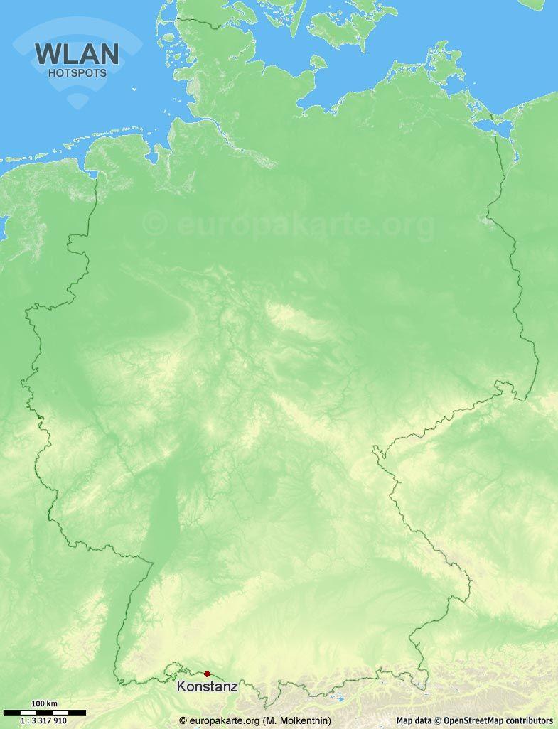 WLAN-Hotspots in Konstanz (Baden-Württemberg)