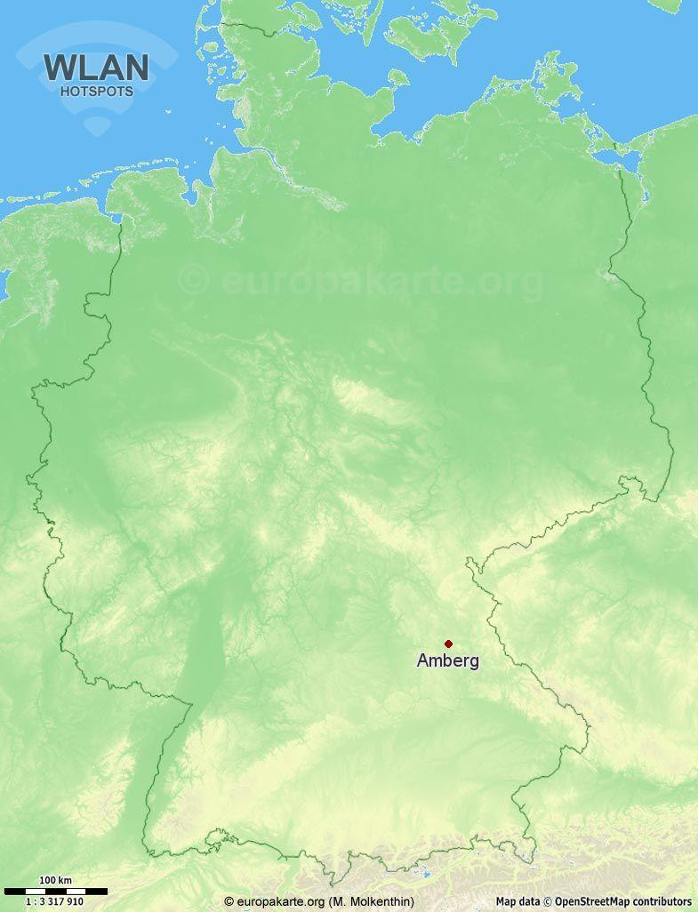 WLAN-Hotspots in Amberg (Bayern)