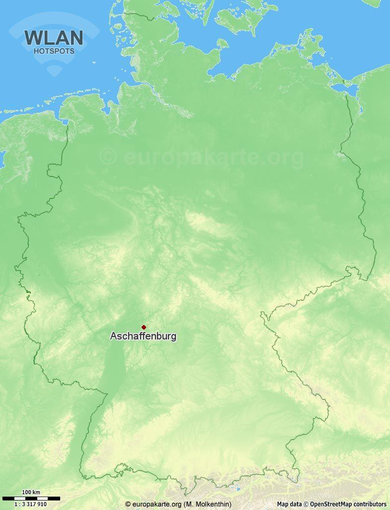 WLAN-Hotspots in Aschaffenburg (Bayern)