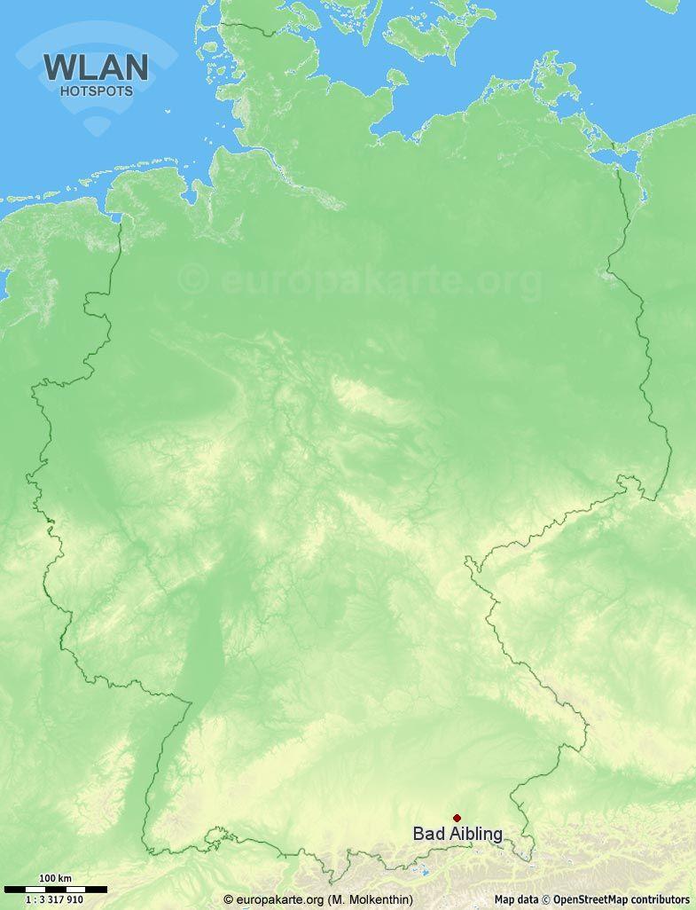 WLAN-Hotspots in Bad Aibling (Bayern)