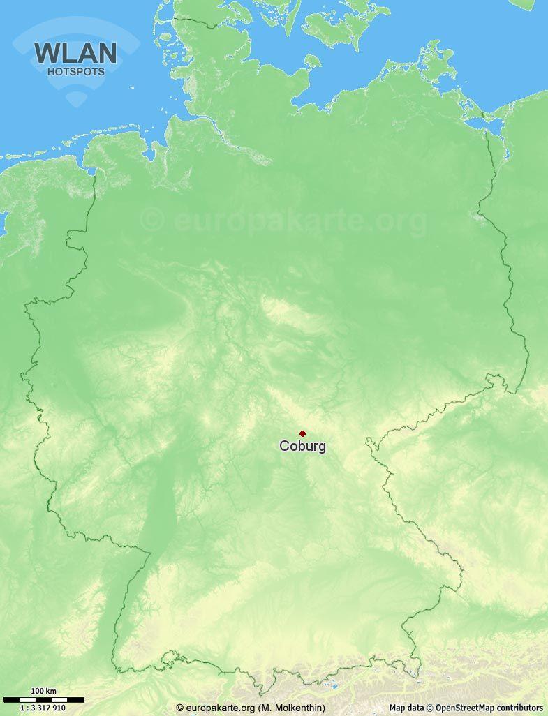 WLAN-Hotspots in Coburg (Bayern)