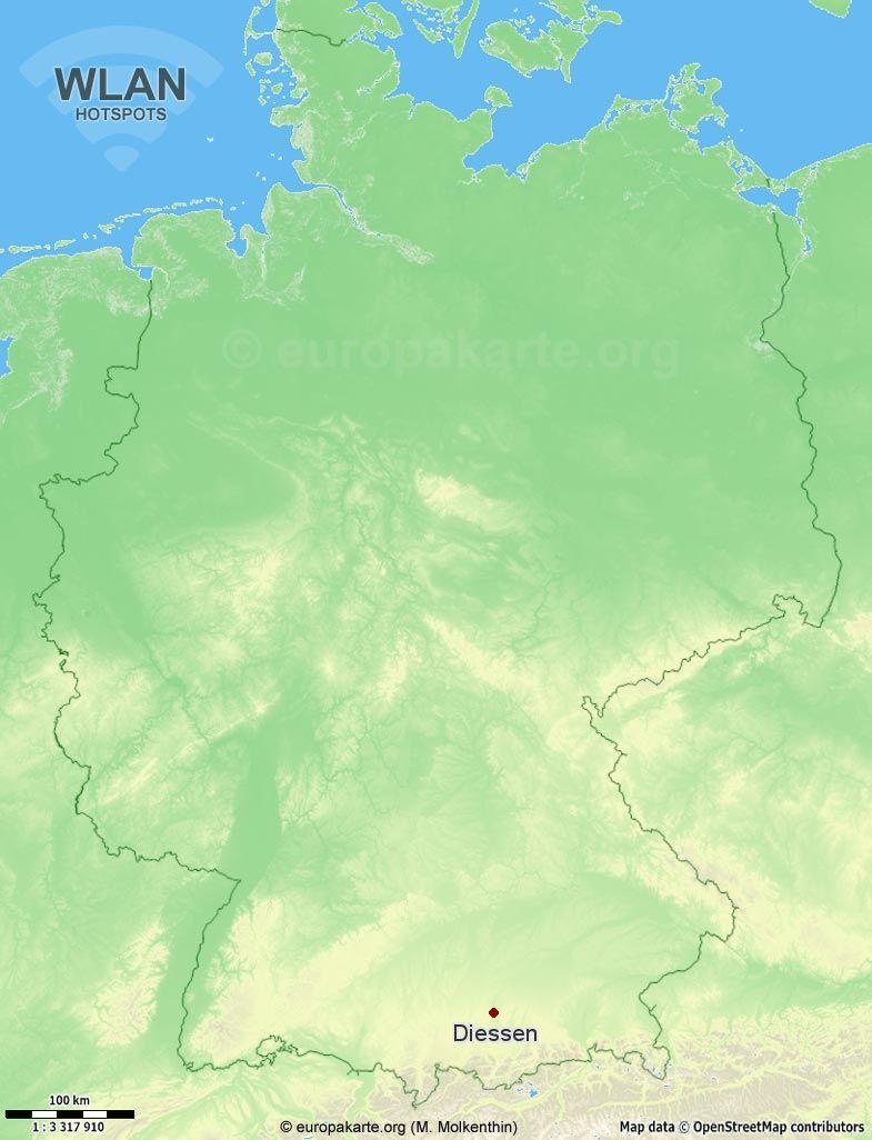 WLAN-Hotspots in Diessen (Bayern)