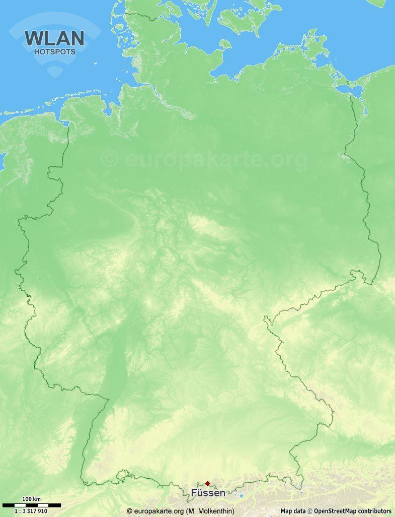 WLAN-Hotspots in Füssen (Bayern)
