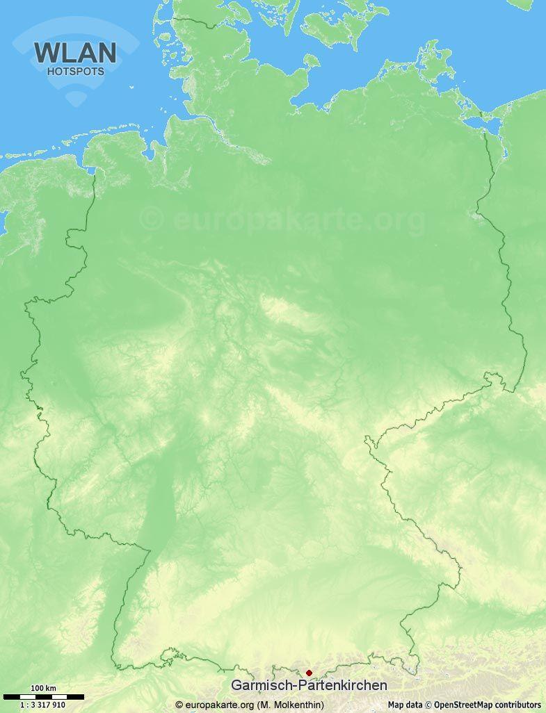 WLAN-Hotspots in Garmisch-Partenkirchen (Bayern)