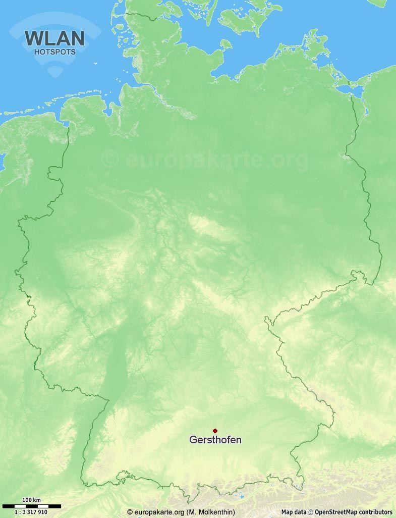 WLAN-Hotspots in Gersthofen (Bayern)