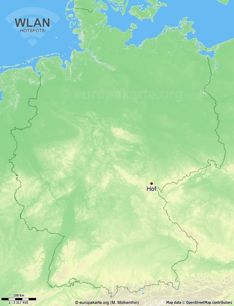 WLAN-Hotspots in Hof (Bayern)