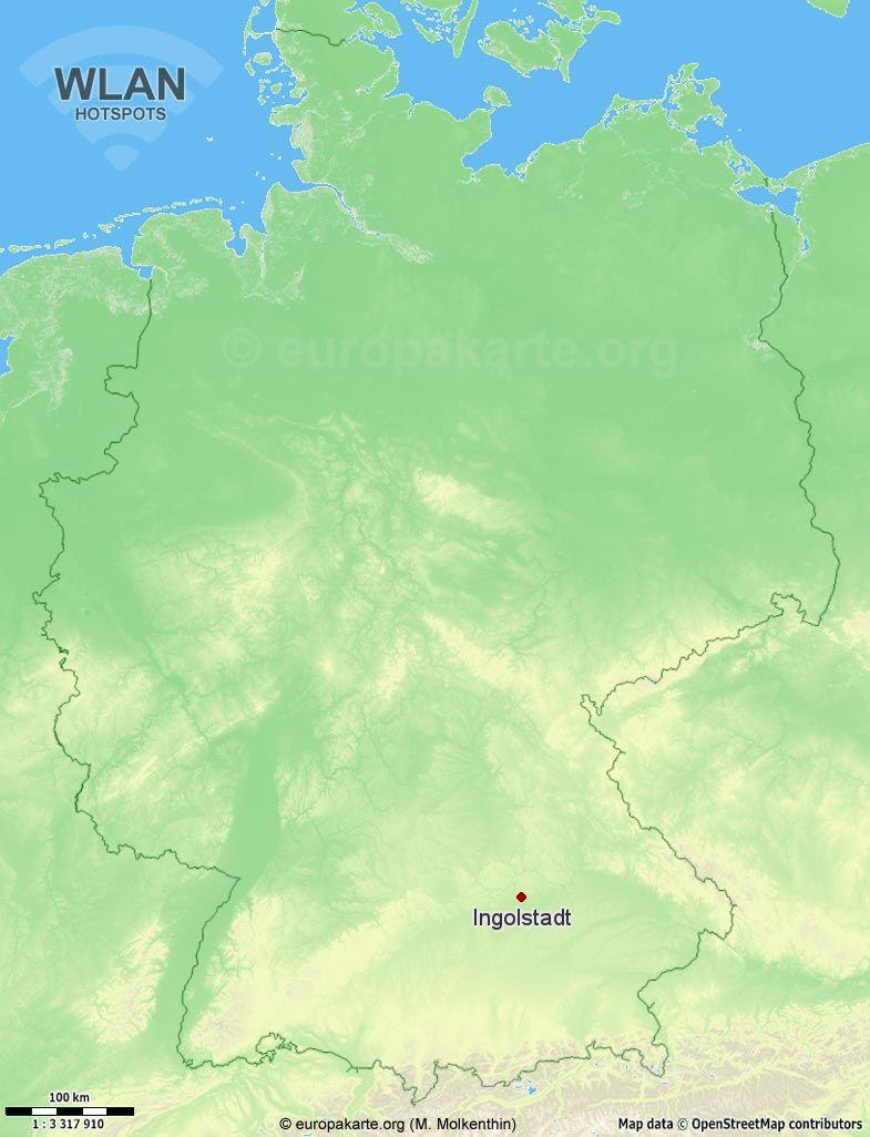 WLAN-Hotspots in Ingolstadt (Bayern)