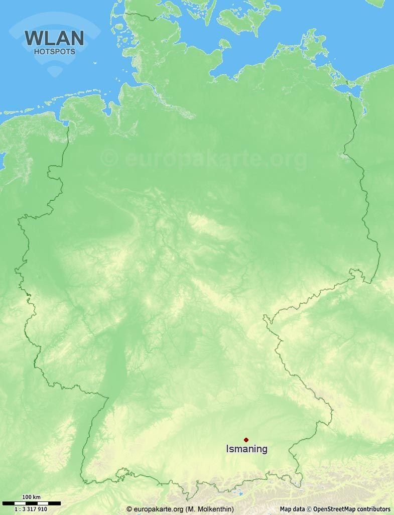WLAN-Hotspots in Ismaning (Bayern)