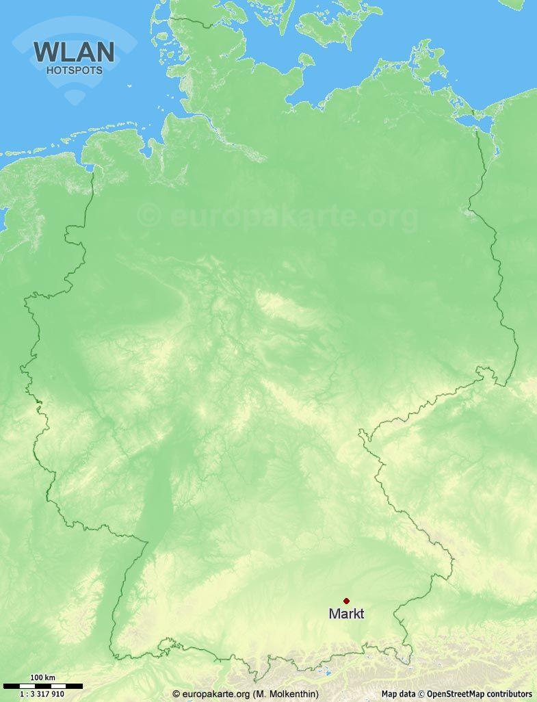 WLAN-Hotspots in Markt (Bayern)