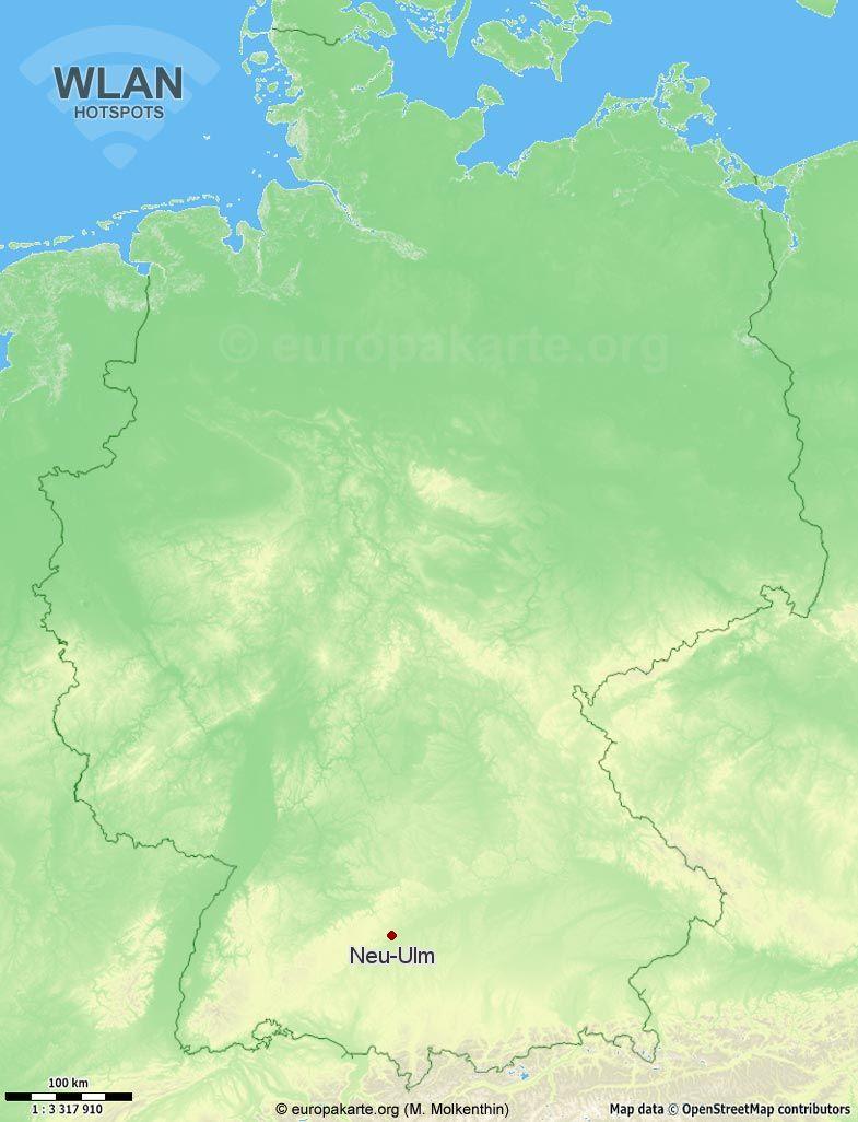 WLAN-Hotspots in Neu-Ulm (Bayern)