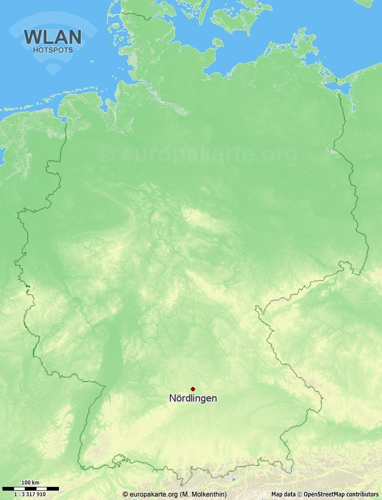 WLAN-Hotspots in Nördlingen (Bayern)