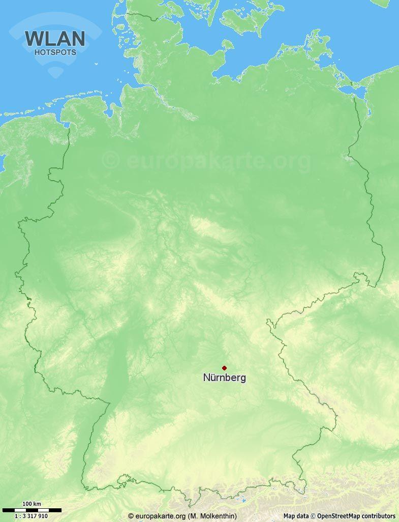 WLAN-Hotspots in Nürnberg (Bayern)