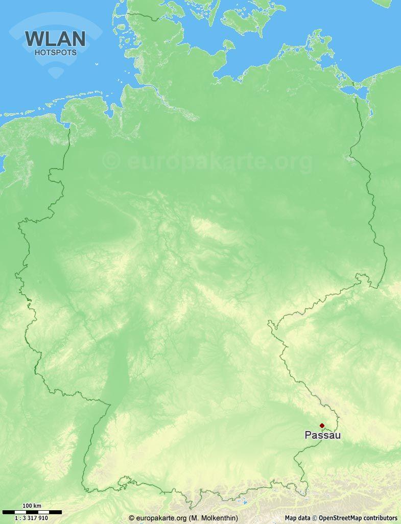 WLAN-Hotspots in Passau (Bayern)