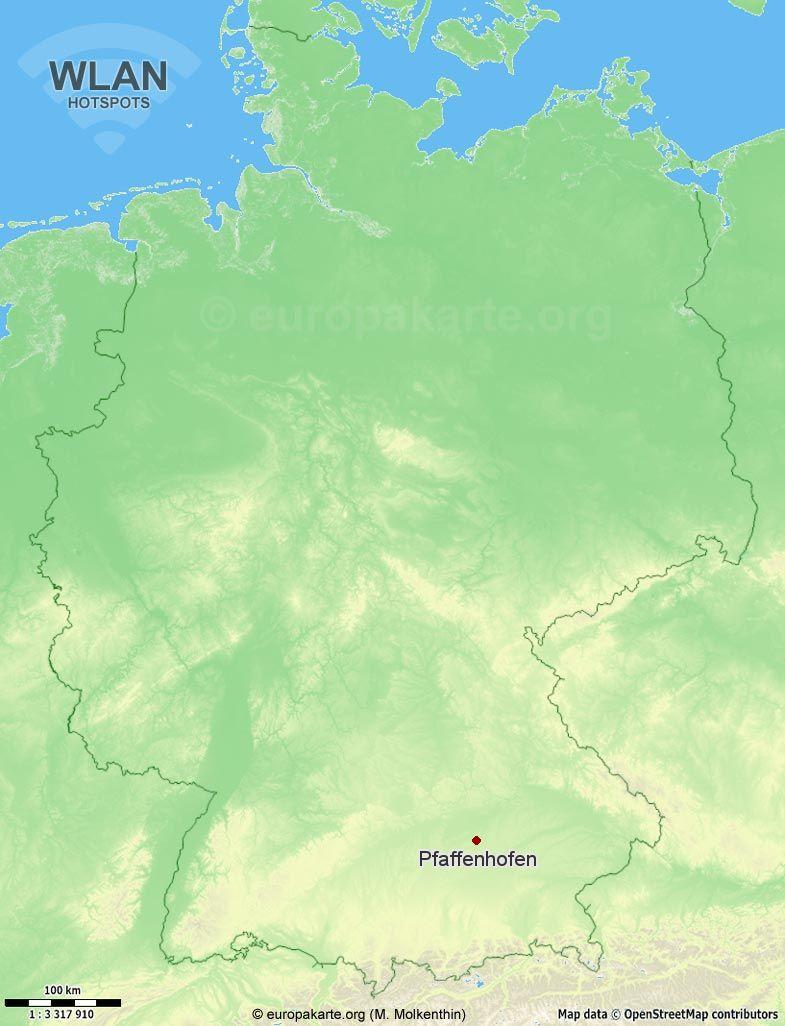 WLAN-Hotspots in Pfaffenhofen (Bayern)
