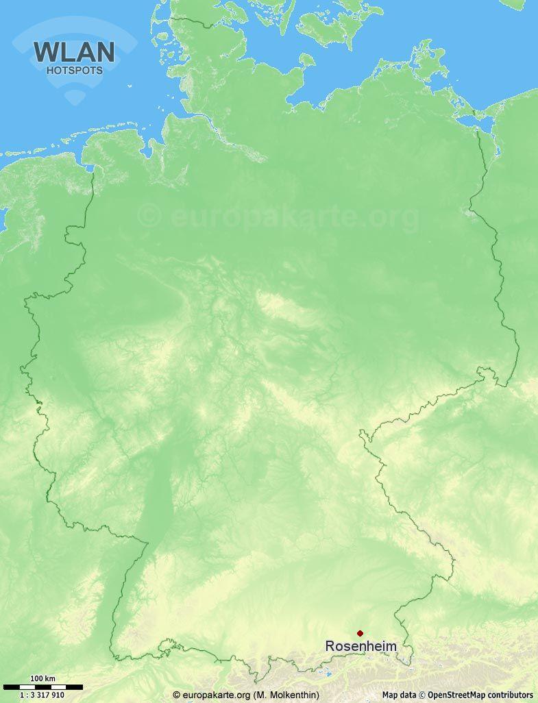 WLAN-Hotspots in Rosenheim (Bayern)