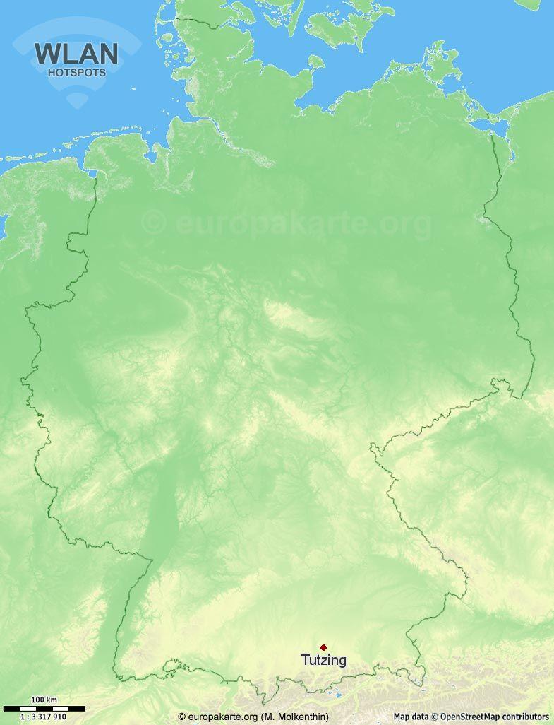 WLAN-Hotspots in Tutzing (Bayern)
