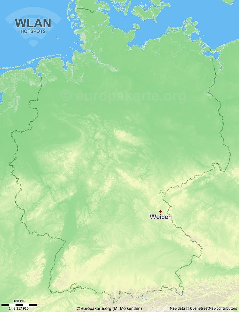 WLAN-Hotspots in Weiden (Bayern)