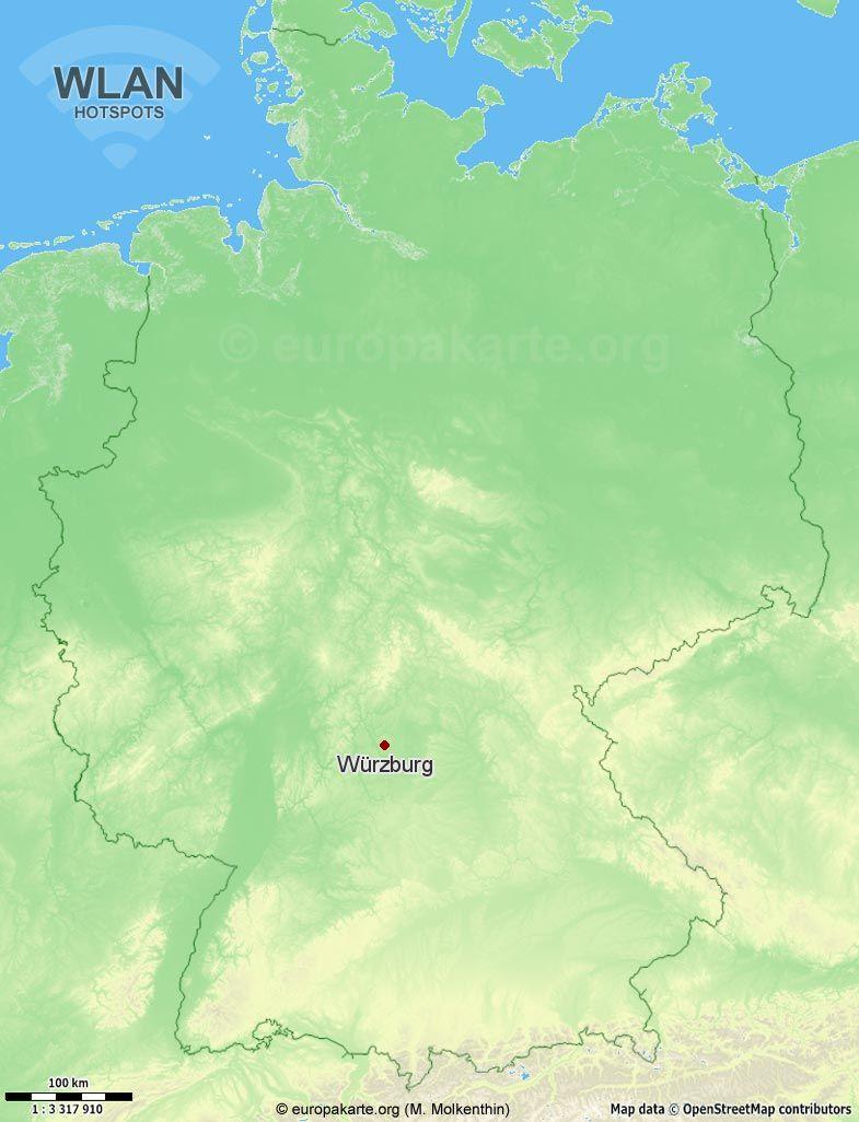 WLAN-Hotspots in Würzburg (Bayern)