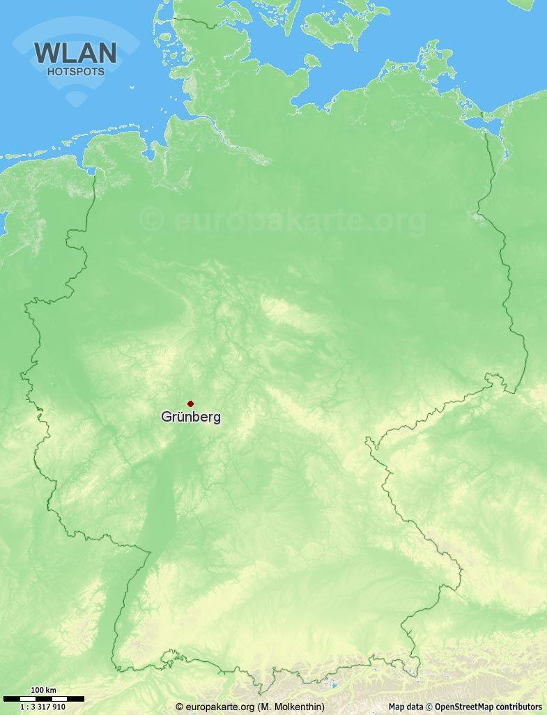 6 WLAN-Hotspots in Grünberg (Hessen) (WLAN Grünberg) und 50 in der ...
