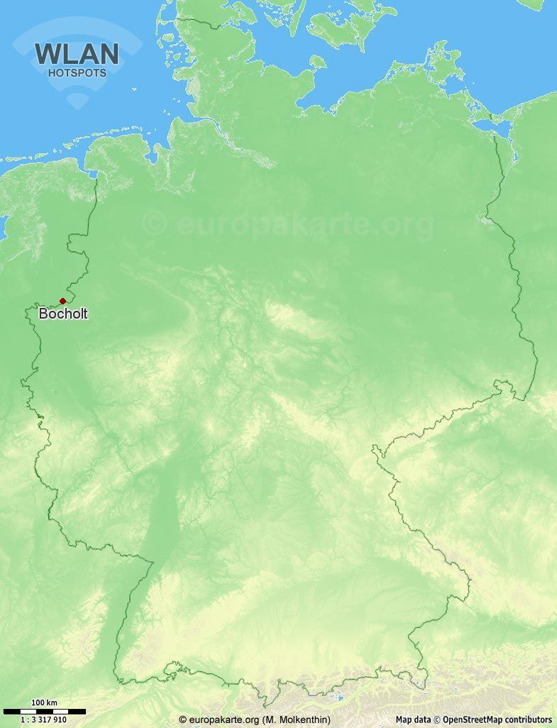 WLAN-Hotspots in Bocholt (Nordrhein-Westfalen)