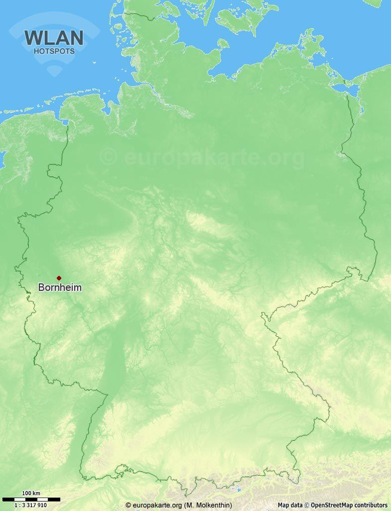 WLAN-Hotspots in Bornheim (Nordrhein-Westfalen)