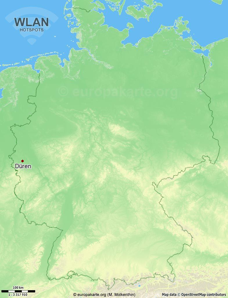WLAN-Hotspots in Düren (Nordrhein-Westfalen)