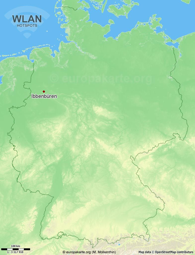 WLAN-Hotspots in Ibbenbüren (Nordrhein-Westfalen)
