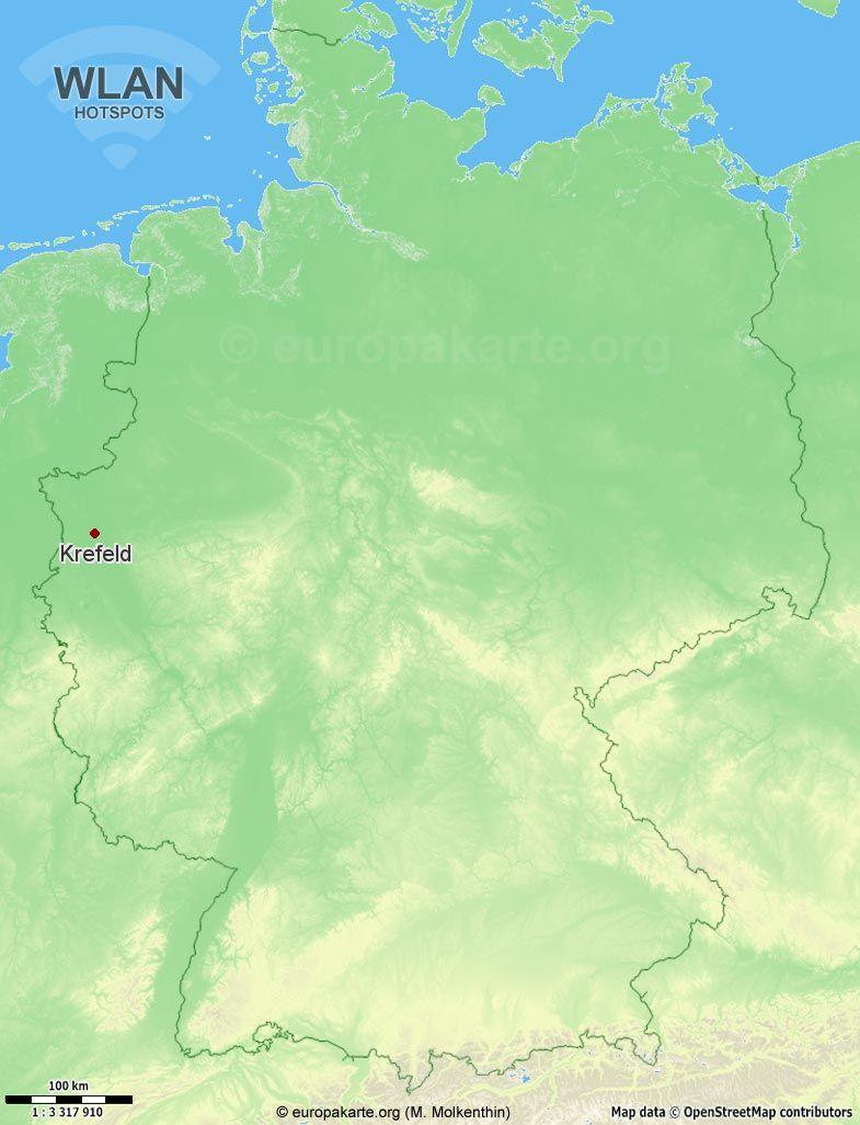 WLAN-Hotspots in Krefeld (Nordrhein-Westfalen)