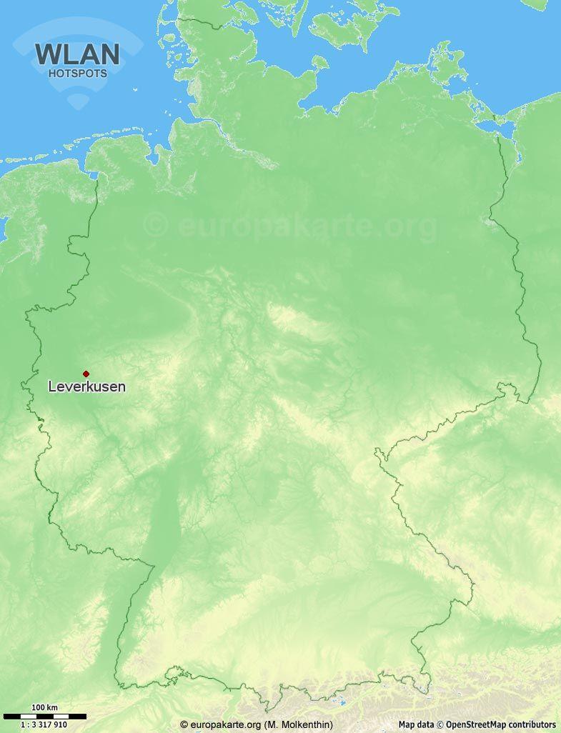 WLAN-Hotspots in Leverkusen (Nordrhein-Westfalen)