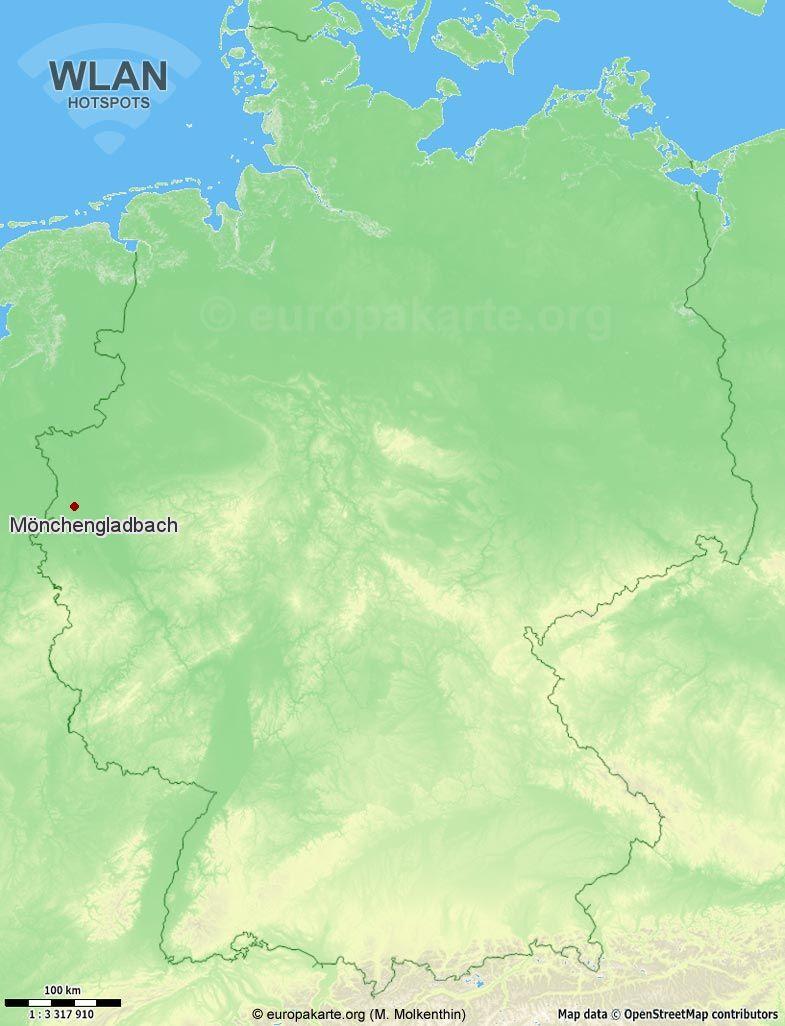 WLAN-Hotspots in Mönchengladbach (Nordrhein-Westfalen)