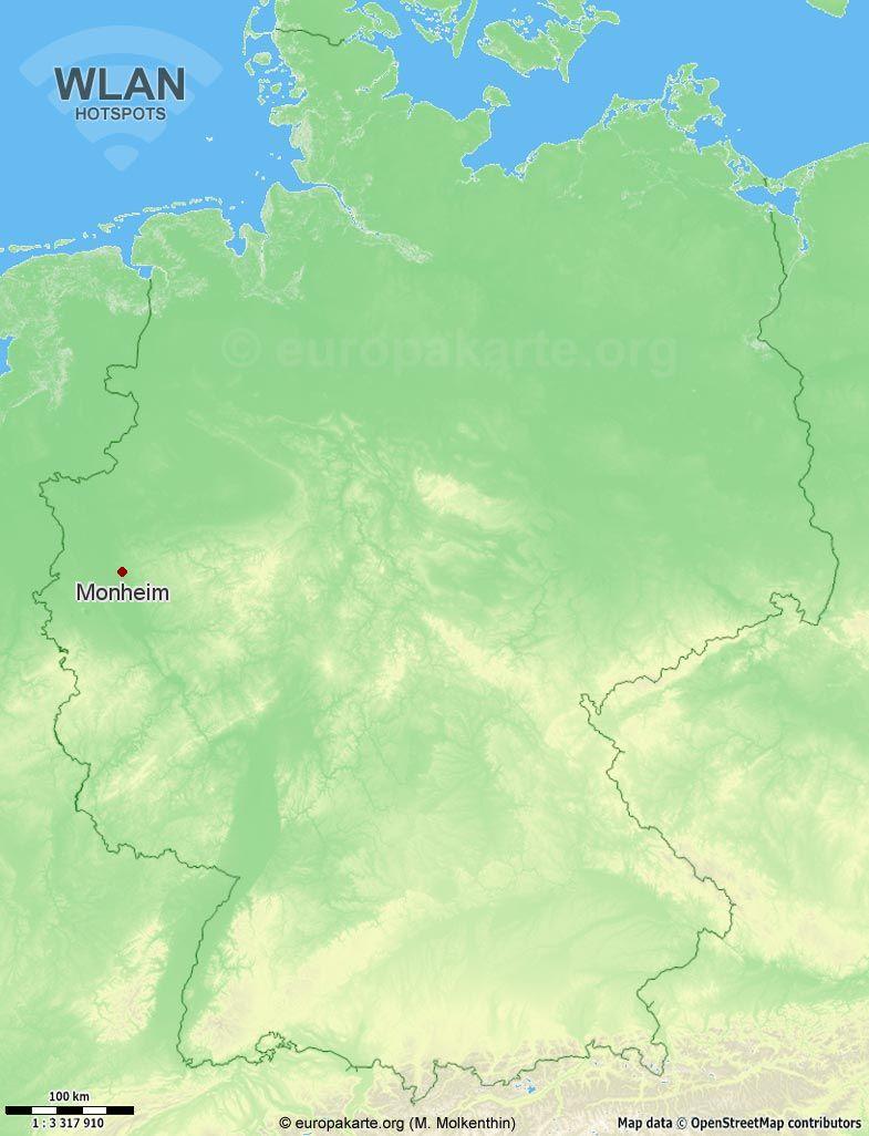 WLAN-Hotspots in Monheim (Nordrhein-Westfalen)