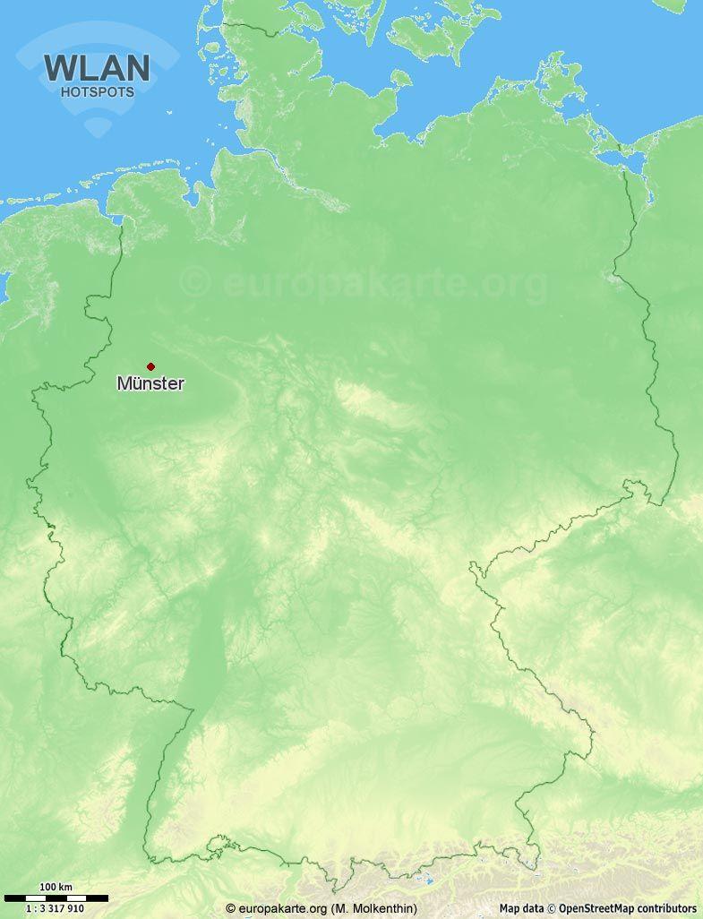 WLAN-Hotspots in Münster (Nordrhein-Westfalen)