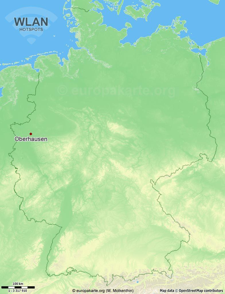 WLAN-Hotspots in Oberhausen (Nordrhein-Westfalen)