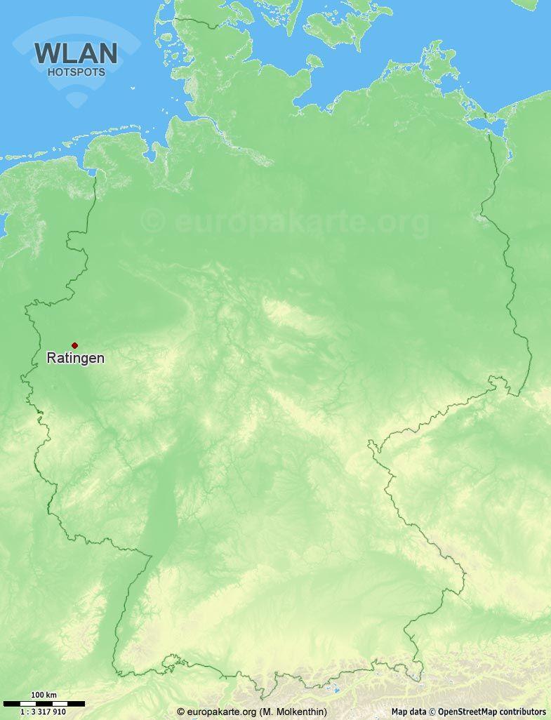 WLAN-Hotspots in Ratingen (Nordrhein-Westfalen)