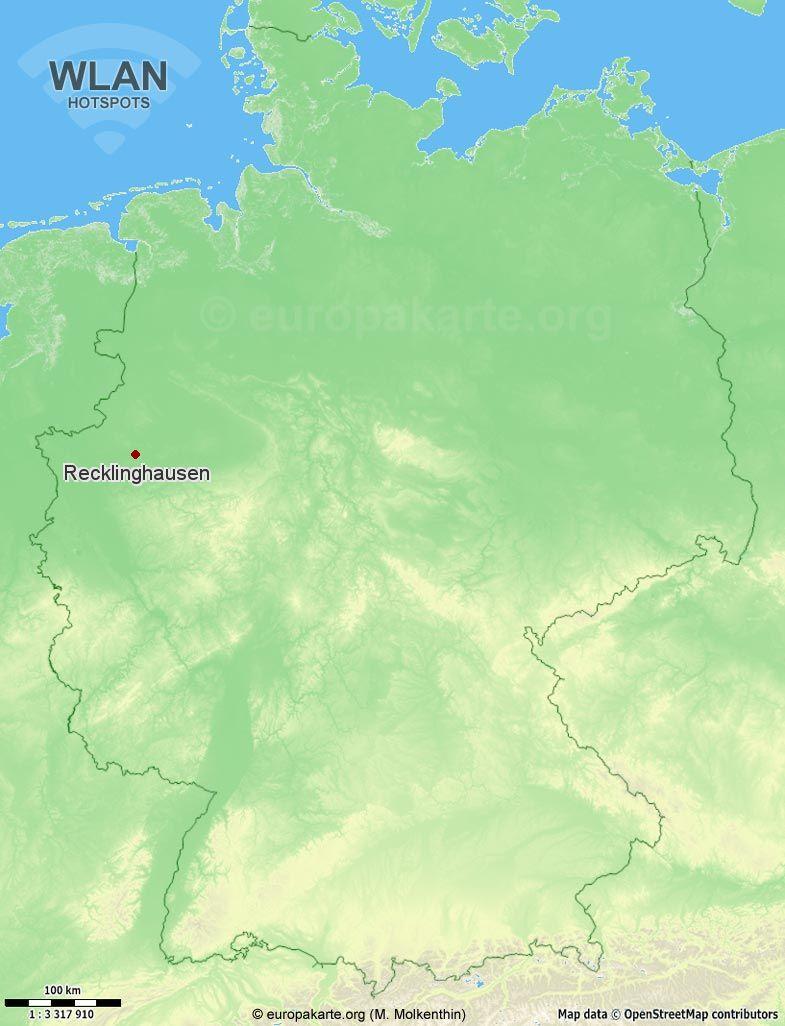 WLAN-Hotspots in Recklinghausen (Nordrhein-Westfalen)