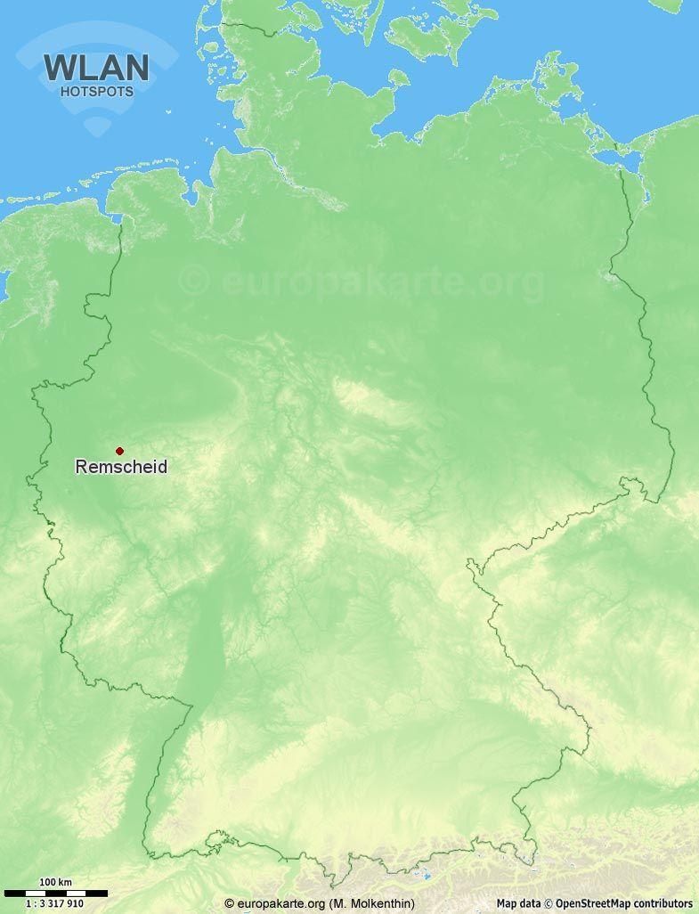 WLAN-Hotspots in Remscheid (Nordrhein-Westfalen)
