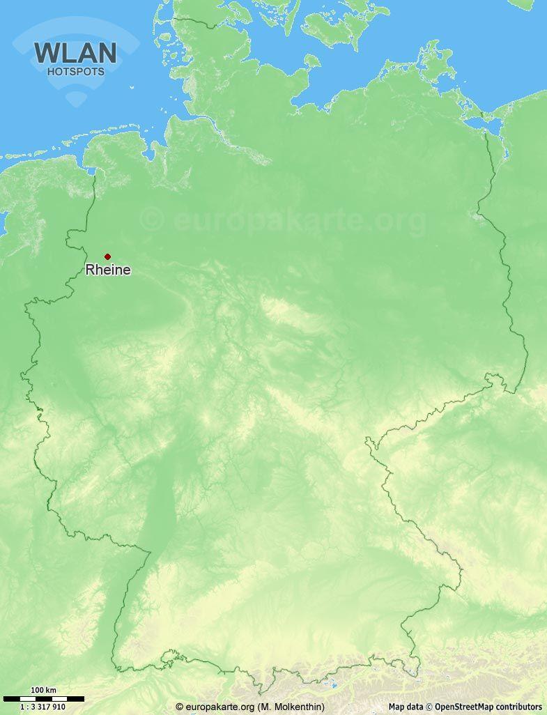 WLAN-Hotspots in Rheine (Nordrhein-Westfalen)
