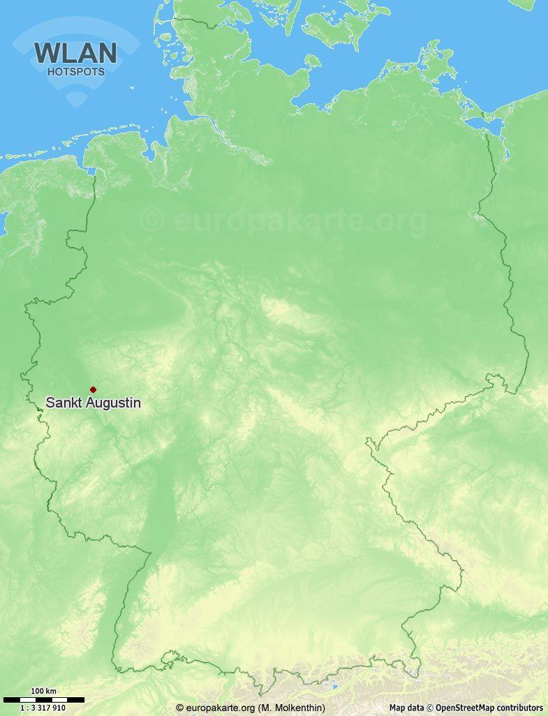 WLAN-Hotspots in Sankt Augustin (Nordrhein-Westfalen)