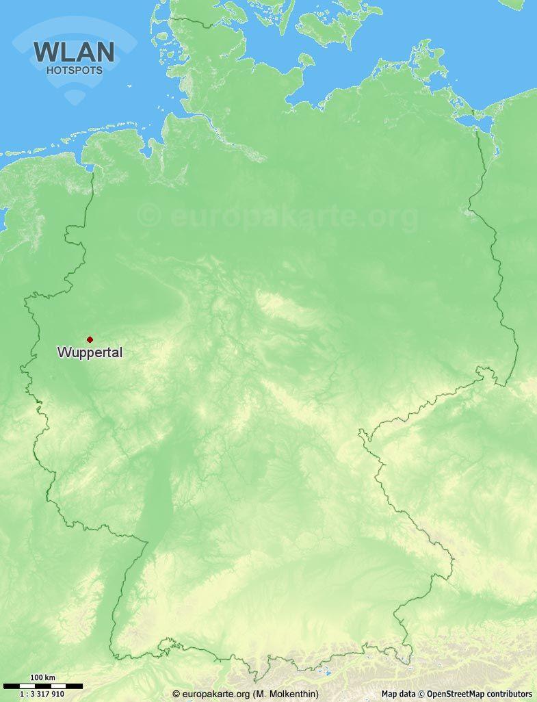 WLAN-Hotspots in Wuppertal (Nordrhein-Westfalen)