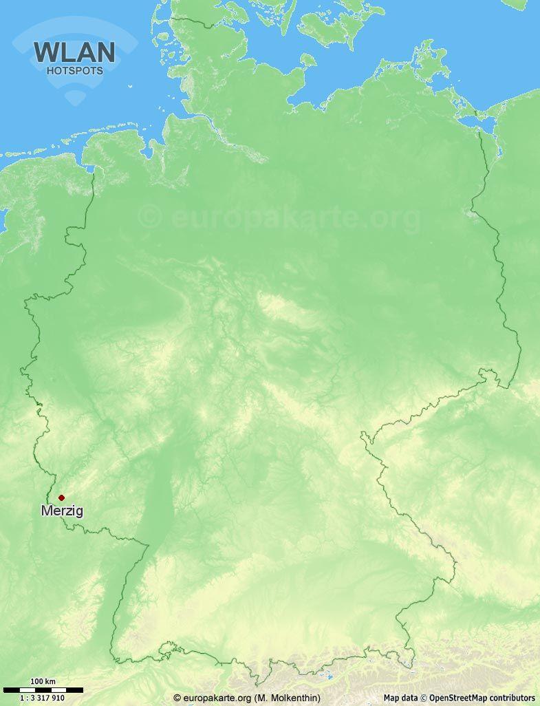 WLAN-Hotspots in Merzig (Saarland)