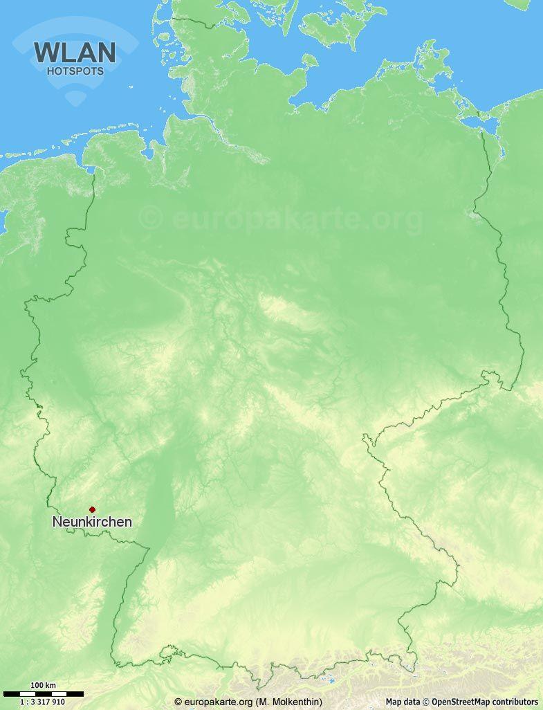 WLAN-Hotspots in Neunkirchen (Saarland)