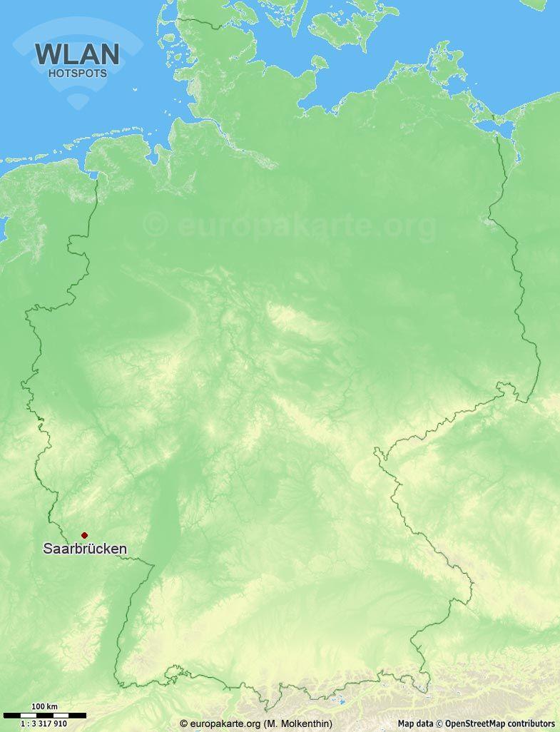 WLAN-Hotspots in Saarbrücken (Saarland)