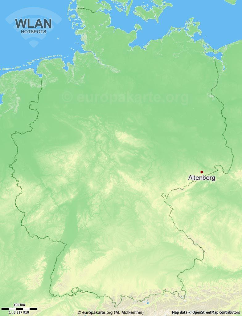 WLAN-Hotspots in Altenberg (Sachsen)