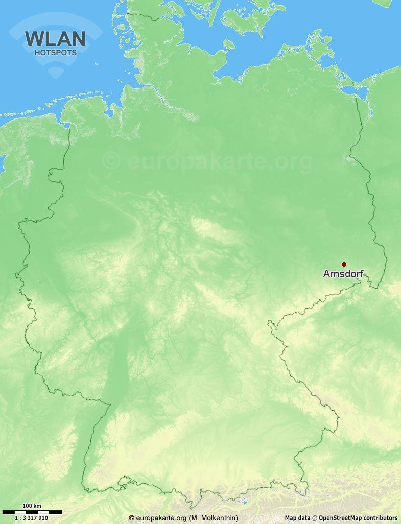 WLAN-Hotspots in Arnsdorf (Sachsen)